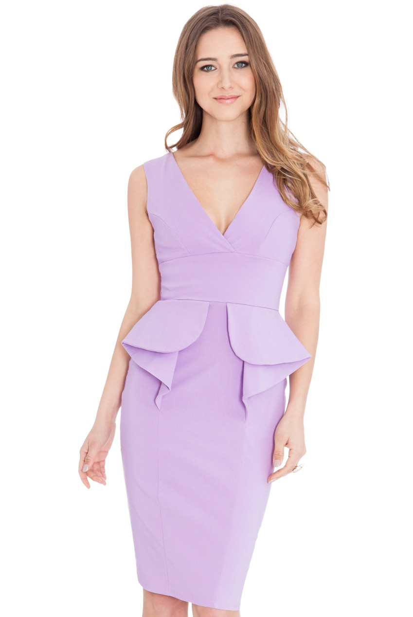 Платье Waterfall Peplum